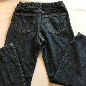 CRAZY 8 DARK WASH BOOTCUT BLUE JEANS 10 HUSKY NWOT